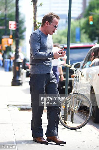 Actor Kiefer Sutherland is seen on July 7 2014 in New York City