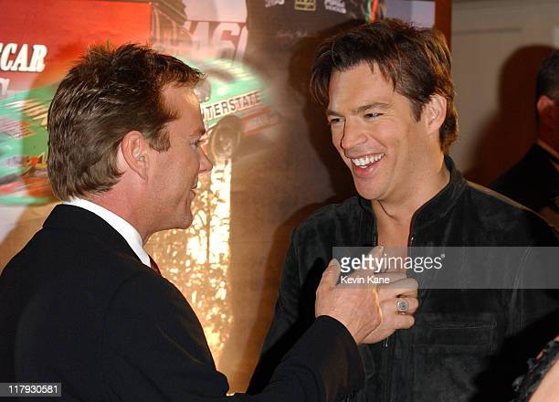 Actor Kiefer Sutherland with singer Harry Connick Jr