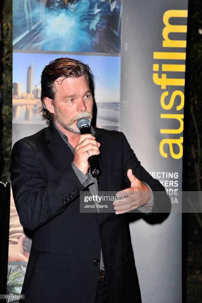 Actor <a gi-track='captionPersonalityLinkClicked' href=/galleries/search?phrase=Kieran+Darcy-Smith&family=editorial&specificpeople=2235633 ng-click='$event.stopPropagation()'>Kieran Darcy-Smith</a> attends the Australian Reception at Parker Palm Springs on June 22, 2013 in Palm Springs, California.
