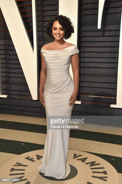 Actor Kiersey Clemons attends the 2017 Vanity Fair Oscar Party hosted by Graydon Carter at Wallis Annenberg Center for the Performing Arts on...