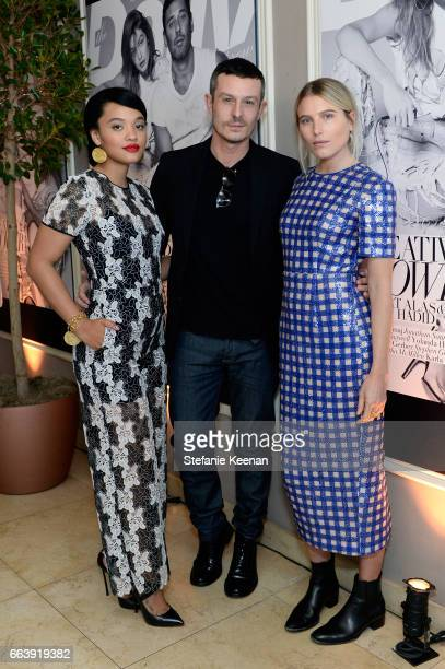 Actor Kiersey Clemons honoree Jonathan Saunders and model Dree Hemingway attend the Daily Front Row's 3rd Annual Fashion Los Angeles Awards at Sunset...