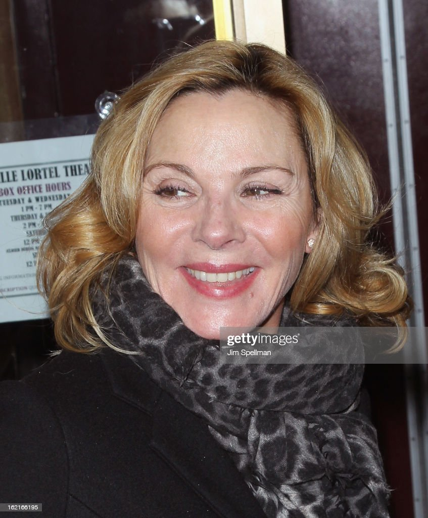 Actor Kim Cattrall attends 'Really Really' Opening Night at the Lucille Lortel Theatre on February 19 2013 in New York City
