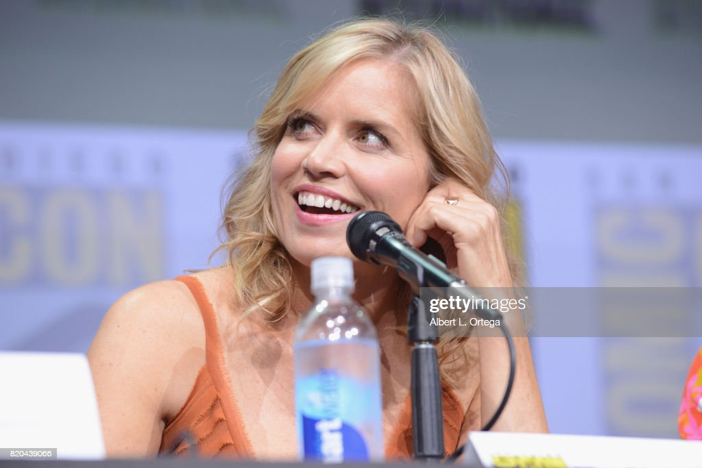 Actor Kim Dickens speaks onstage at Comic-Con International 2017 AMC's 'Fear The Walking Dead' Panel at San Diego Convention Center on July 21, 2017 in San Diego, California.