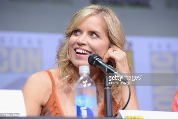Actor Kim Dickens speaks onstage at ComicCon International 2017 AMC's 'Fear The Walking Dead' Panel at San Diego Convention Center on July 21 2017 in...