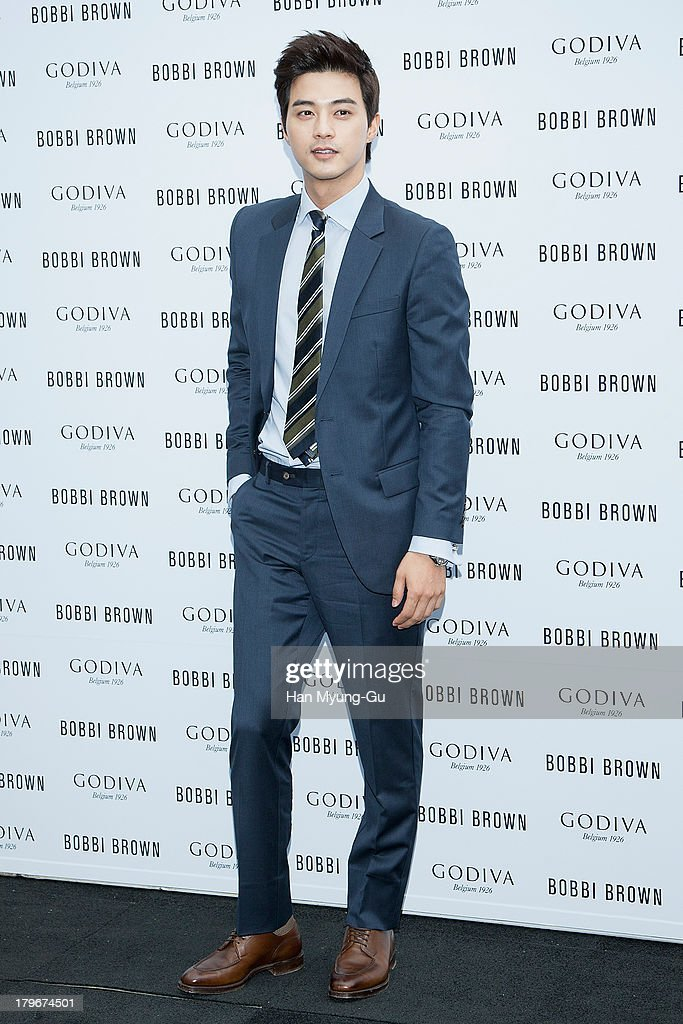Actor Kim Ji-Hoon attends during the Bobbi Brown 'Rich Chocolate Collection' Launching Party With Godiva at Godiva flagship store on September 6, 2013 in Seoul, South Korea.
