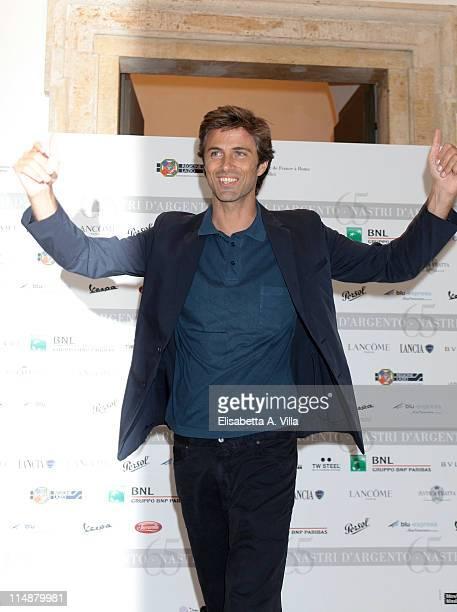 Actor Kim Rossi Stuart attends Nastri d'Argento Awards 2011 Presentation at Villa Medici on May 27 2011 in Rome Italy