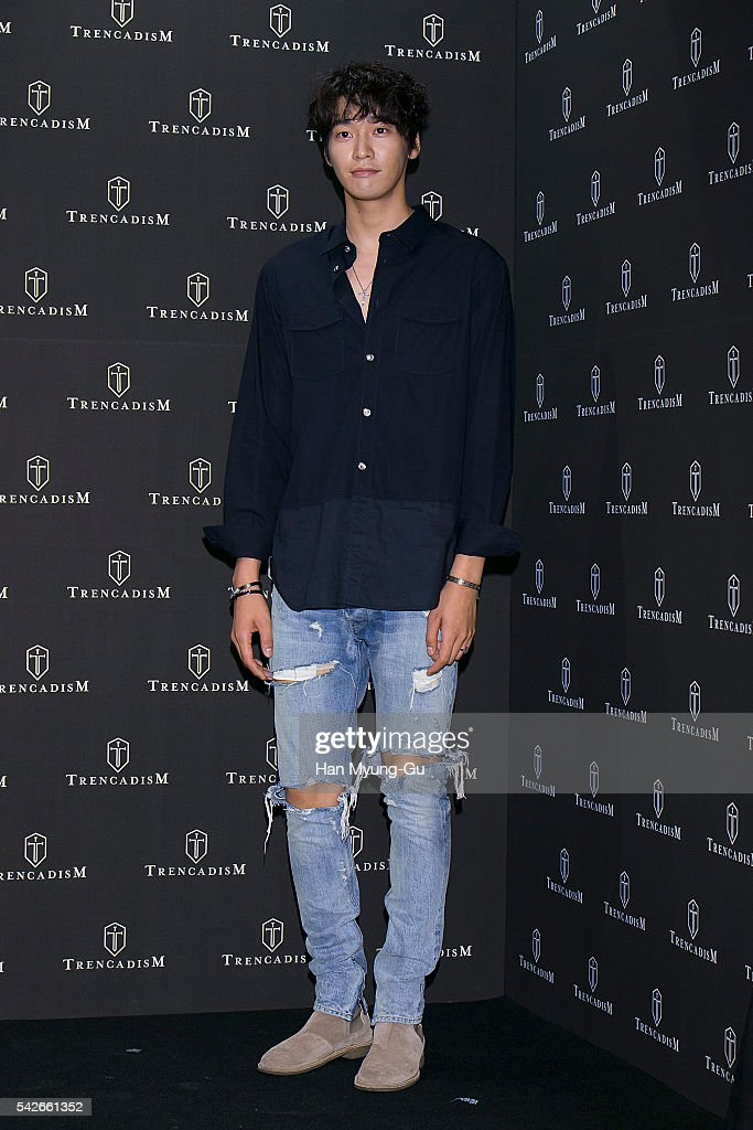 Actor Kim YoungKwang attends the photocall for 'TrencadisM' Launch on June 23 2016 in Seoul South Korea