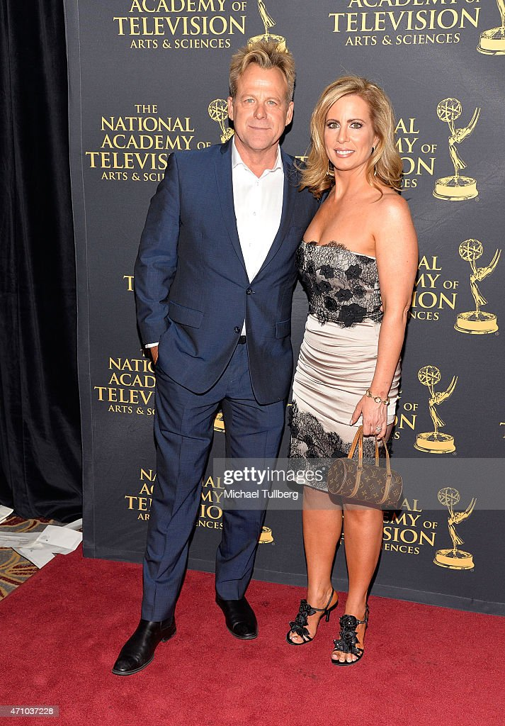 Actor Kin Shriner and guest attend the 42nd Annual Daytime Creative Arts Emmy Awards at Universal Hilton Hotel on April 24, 2015 in Universal City, California.