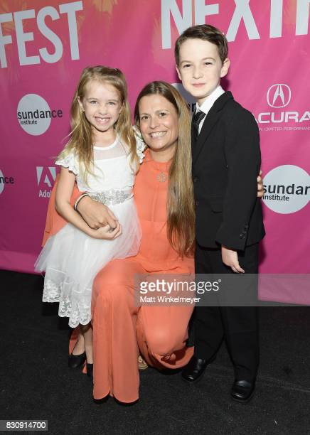 Actor Kingston Foster director Marianna Palka and actor Jason Maybaum attend 2017 Sundance NEXT FEST at The Theater at The Ace Hotel on August 12...