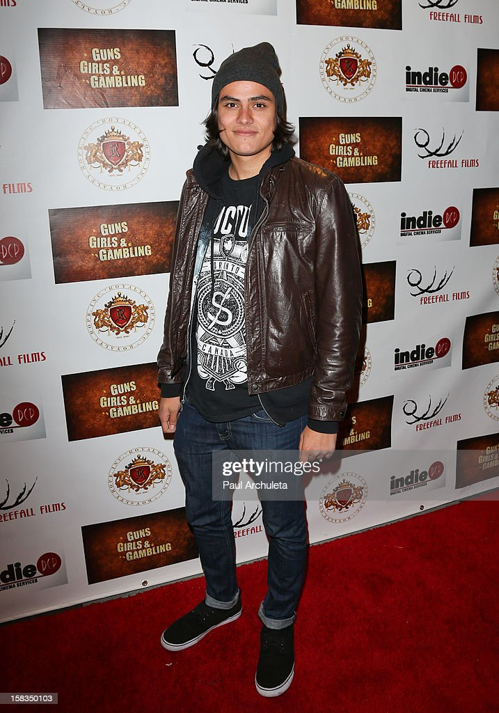 Actor <a gi-track='captionPersonalityLinkClicked' href=/galleries/search?phrase=Kiowa+Gordon+-+Actor&family=editorial&specificpeople=5996405 ng-click='$event.stopPropagation()'>Kiowa Gordon</a> attends the 'Guns, Girls & Gambling' screening at the Laemmle NoHo 7 on December 13, 2012 in North Hollywood, California.