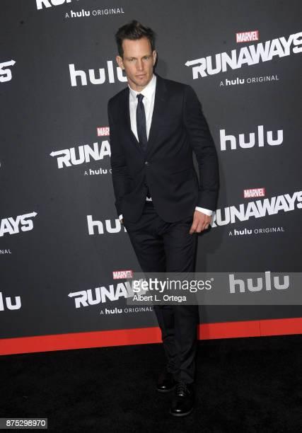 Actor Kip Pardue arrives for the Premiere Of Hulu's 'Marvel's Runaways' held at Regency Bruin Theatre on November 16 2017 in Los Angeles California