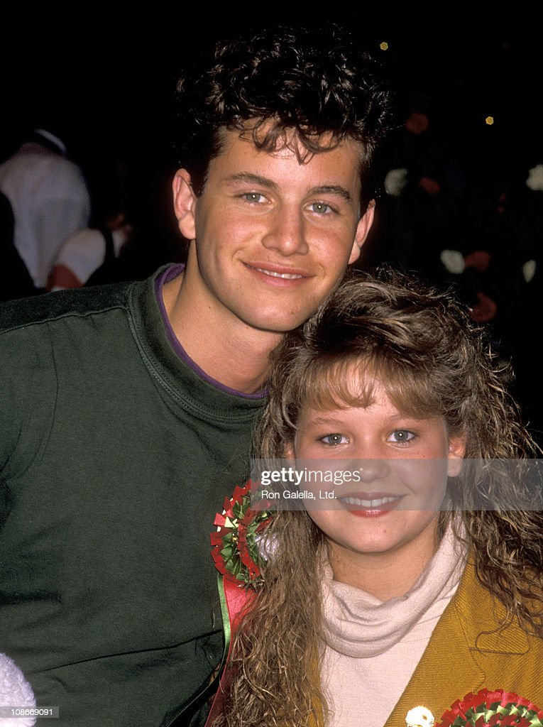 Actor <a gi-track='captionPersonalityLinkClicked' href=/galleries/search?phrase=Kirk+Cameron&family=editorial&specificpeople=807232 ng-click='$event.stopPropagation()'>Kirk Cameron</a> and Sister Actress Candace Cameron attend the 58th Annual Hollywood Christams Parade on November 27, 1989 in Hollywood, California.