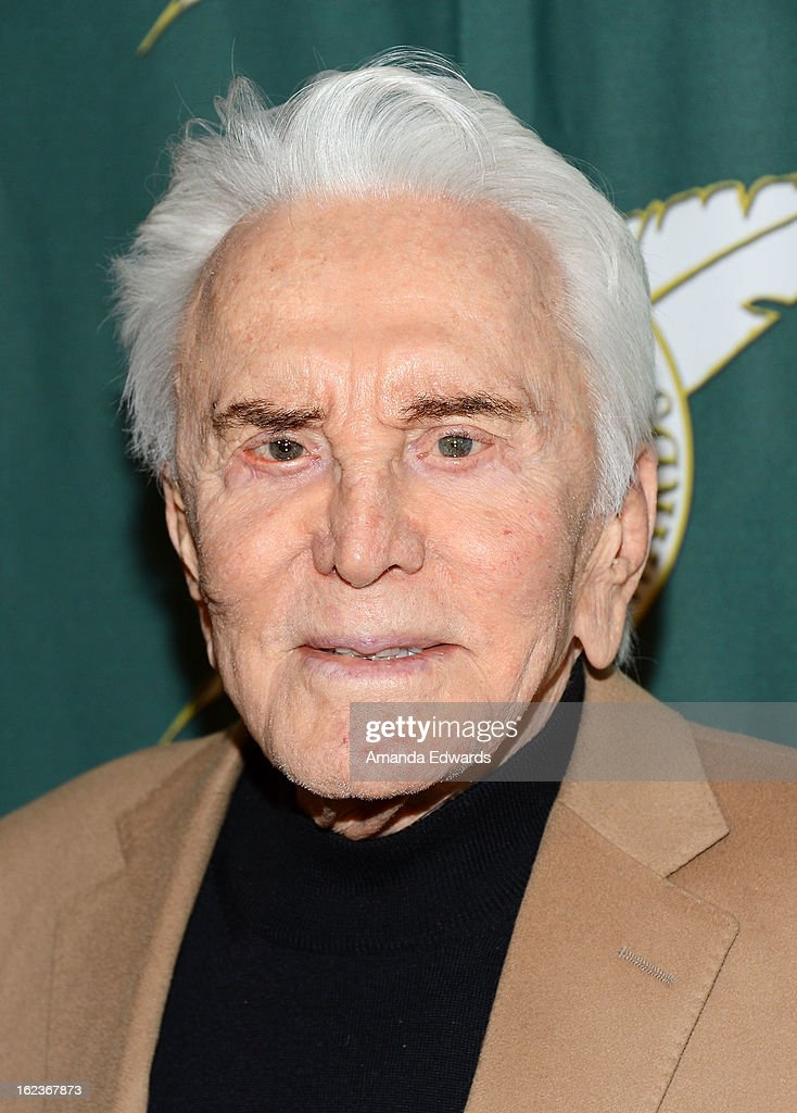 Actor <a gi-track='captionPersonalityLinkClicked' href=/galleries/search?phrase=Kirk+Douglas+-+Actor&family=editorial&specificpeople=13450359 ng-click='$event.stopPropagation()'>Kirk Douglas</a> arrives at the ICG 50th Annual Publicists Awards at The Beverly Hilton Hotel on February 22, 2013 in Beverly Hills, California.