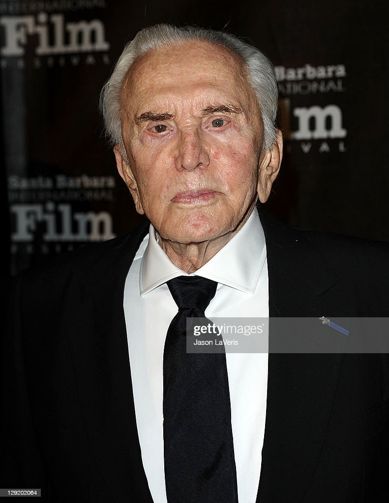 Actor <a gi-track='captionPersonalityLinkClicked' href=/galleries/search?phrase=Kirk+Douglas+-+Actor&family=editorial&specificpeople=13450359 ng-click='$event.stopPropagation()'>Kirk Douglas</a> attends Santa Barbara International Film Festival's 6th annual <a gi-track='captionPersonalityLinkClicked' href=/galleries/search?phrase=Kirk+Douglas+-+Actor&family=editorial&specificpeople=13450359 ng-click='$event.stopPropagation()'>Kirk Douglas</a> Award for Excellence in Film gala at The Four Seasons Biltmore on October 13, 2011 in Santa Barbara, California.