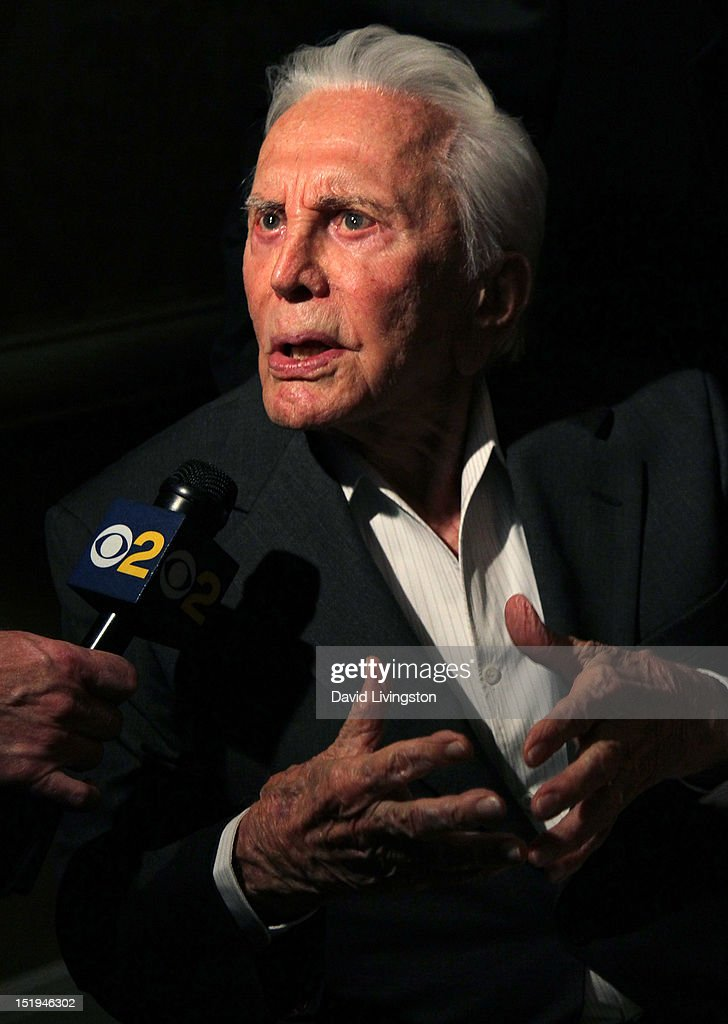 Actor <a gi-track='captionPersonalityLinkClicked' href=/galleries/search?phrase=Kirk+Douglas+-+Actor&family=editorial&specificpeople=13450359 ng-click='$event.stopPropagation()'>Kirk Douglas</a> attends the Los Angeles Mission's 20th Anniversary Gala for the Anne Douglas Center for Women at the Four Seasons Hotel Los Angeles at Beverly Hills on September 12, 2012 in Beverly Hills, California.