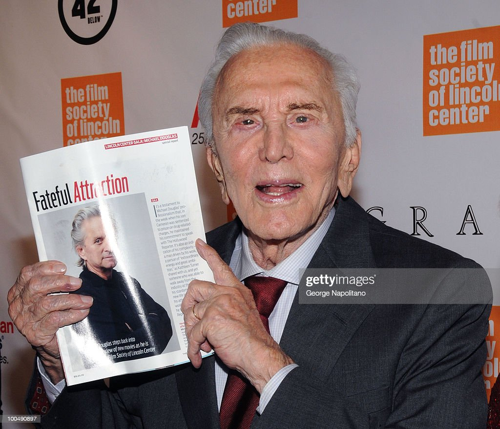 Actor Kirk Douglas attends the The Film Society of Lincoln Center's 37th Annual Chaplin Award gala at Alice Tully Hall on May 24, 2010 in New York City.