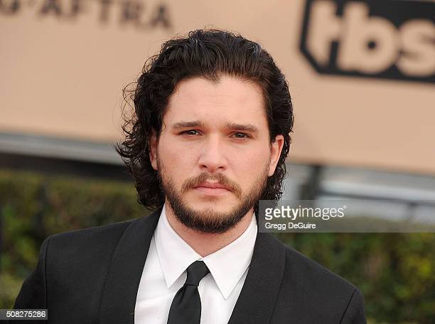 Actor Kit Harington arrives at the 22nd Annual Screen Actors Guild Awards at The Shrine Auditorium on January 30 2016 in Los Angeles California