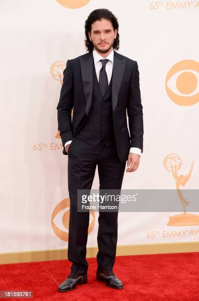 Actor Kit Harington arrives at the 65th Annual Primetime Emmy Awards held at Nokia Theatre LA Live on September 22 2013 in Los Angeles California