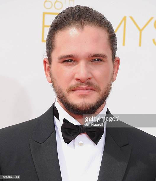 Actor Kit Harington arrives at the 66th Annual Primetime Emmy Awards at Nokia Theatre LA Live on August 25 2014 in Los Angeles California