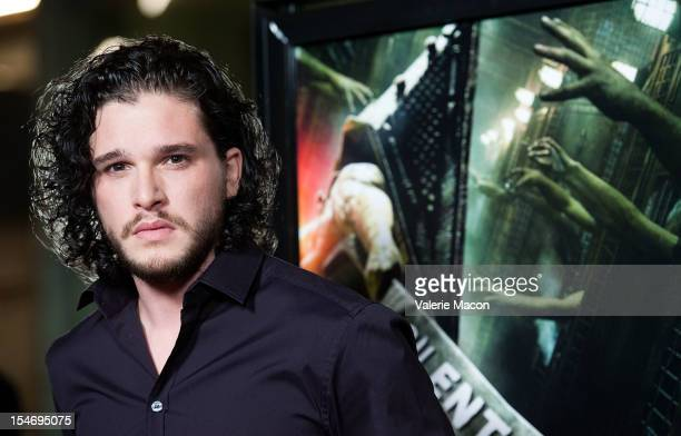 Actor Kit Harington arrives at the premiere of Open Road's 'Silent Hill Revelation 3D' at ArcLight Cinemas on October 24 2012 in Hollywood California