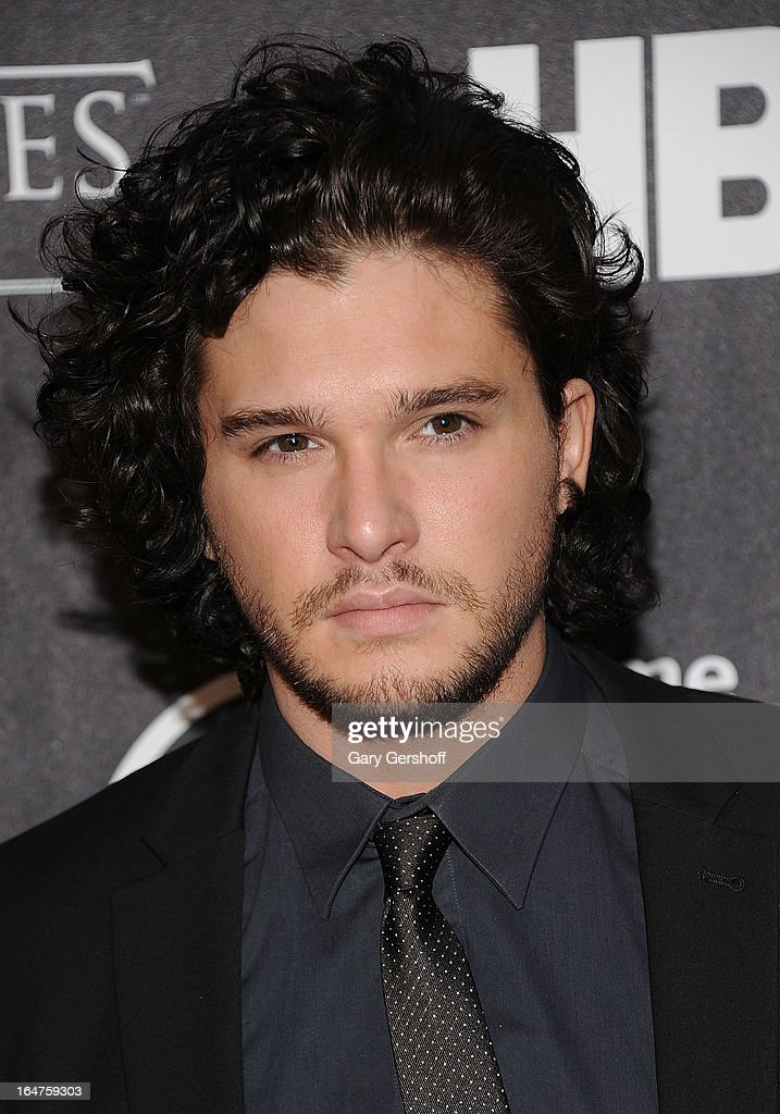 Actor <a gi-track='captionPersonalityLinkClicked' href=/galleries/search?phrase=Kit+Harington&family=editorial&specificpeople=7470548 ng-click='$event.stopPropagation()'>Kit Harington</a> attends 'Game Of Thrones' The Exhibition New York Opening at 3 West 57th Avenue on March 27, 2013 in New York City.