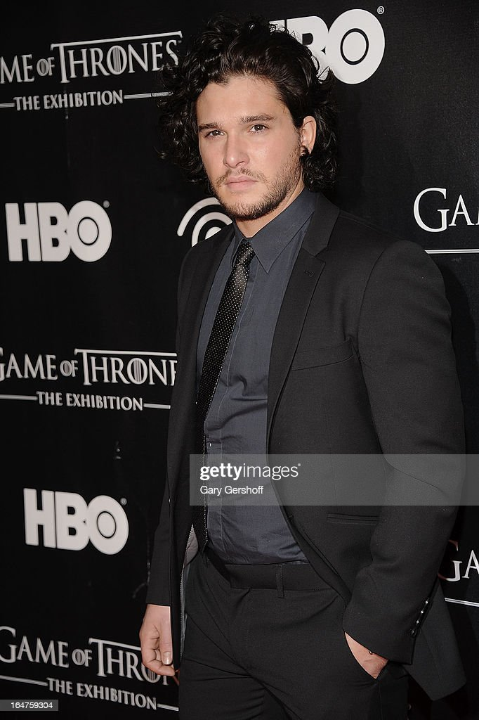 Actor Kit Harington attends 'Game Of Thrones' The Exhibition New York Opening at 3 West 57th Avenue on March 27, 2013 in New York City.