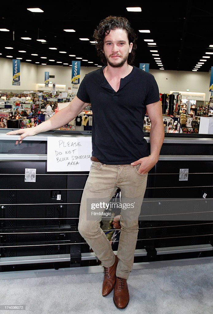 Actor <a gi-track='captionPersonalityLinkClicked' href=/galleries/search?phrase=Kit+Harington&family=editorial&specificpeople=7470548 ng-click='$event.stopPropagation()'>Kit Harington</a> attends HBO's 'Game Of Thrones' cast autograph signing at San Diego Convention Center on July 19, 2013 in San Diego, California.