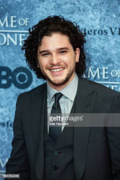 Actor Kit Harington attends HBO's 'Game Of Thrones' season 3 premiere at Cinerama Theater on March 21 2013 in Seattle Washington
