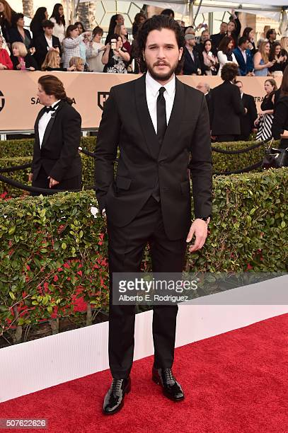 Actor Kit Harington attends the 22nd Annual Screen Actors Guild Awards at The Shrine Auditorium on January 30 2016 in Los Angeles California