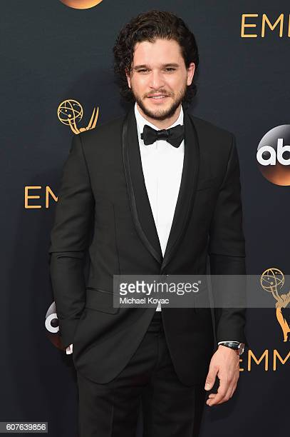 Actor Kit Harington attends the 68th Annual Primetime Emmy Awards at Microsoft Theater on September 18 2016 in Los Angeles California