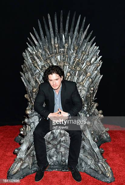 Actor Kit Harington attends the Academy of Television Arts Sciences an evening with HBO's 'Game Of Thrones' at TCL Chinese Theatre on March 19 2013...