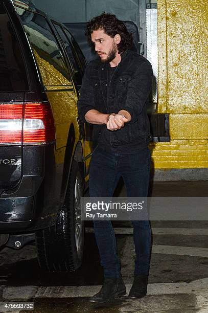 Actor Kit Harington enters the 'HuffPost Live' taping at the Huffington Post Studios on June 1 2015 in New York City