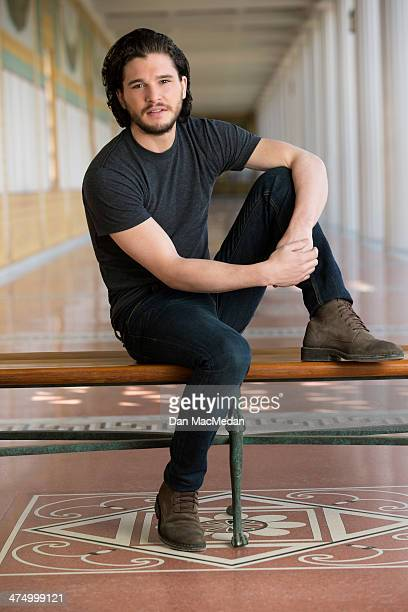 Actor Kit Harington is photographed for USA Today on February 4 2014 in Pacific Palisades California
