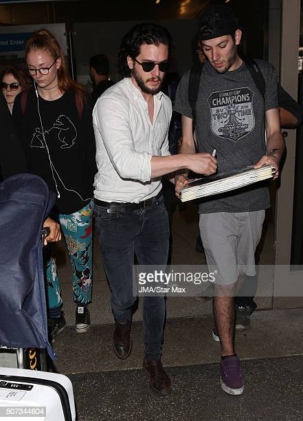 Actor Kit Harington is seen on January 28 2016 in Los Angeles California