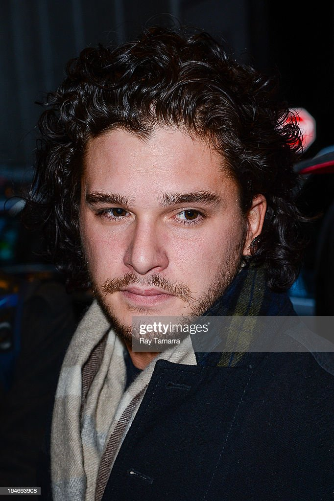 Actor <a gi-track='captionPersonalityLinkClicked' href=/galleries/search?phrase=Kit+Harington&family=editorial&specificpeople=7470548 ng-click='$event.stopPropagation()'>Kit Harington</a> leaves his Midtown Manhattan hotel on March 26, 2013 in New York City.