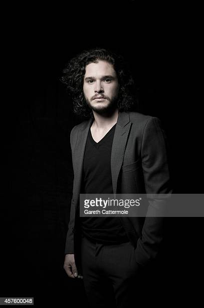 Actor Kit Harington poses in the portrait studio at the BFI London Film Festival 2014 on October 14 2014 in London England