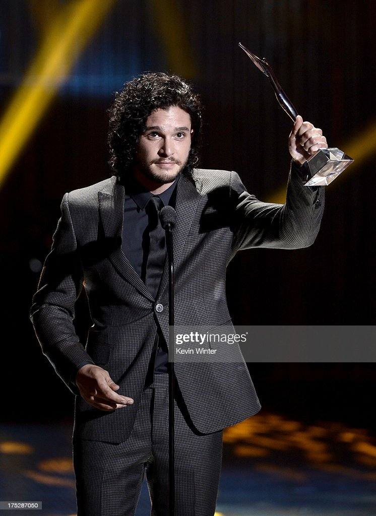 Actor <a gi-track='captionPersonalityLinkClicked' href=/galleries/search?phrase=Kit+Harington&family=editorial&specificpeople=7470548 ng-click='$event.stopPropagation()'>Kit Harington</a> receives the Actor of the Year Award onstage during CW Network's 2013 Young Hollywood Awards presented by Crest 3D White and SodaStream held at The Broad Stage on August 1, 2013 in Santa Monica, California.