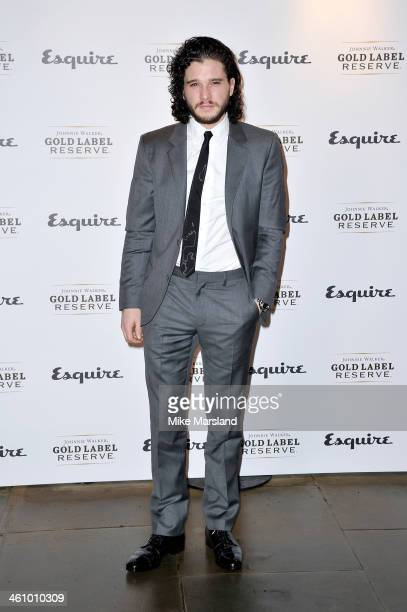 Actor Kit Harrington arrives at the Esquire Party during the London Collections Men AW14 at Rosewood London on January 6 2014 in London England