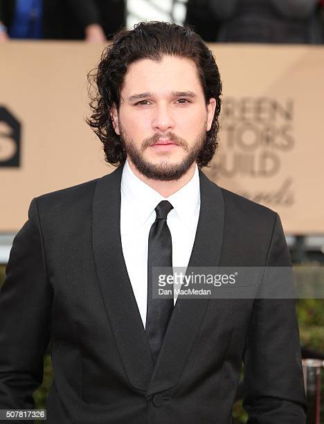 Actor Kit Harrington attends the 22nd Annual Screen Actors Guild Awards at The Shrine Auditorium on January 30 2016 in Los Angeles California