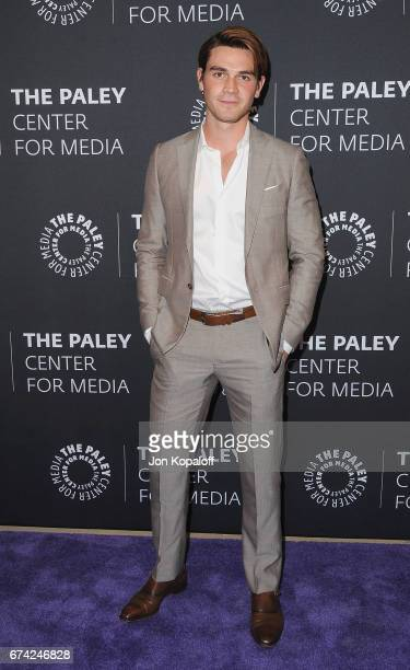 Actor KJ Apa arrives at the 2017 PaleyLive LA Spring Season 'Riverdale' Screening And Conversation at The Paley Center for Media on April 27 2017 in...