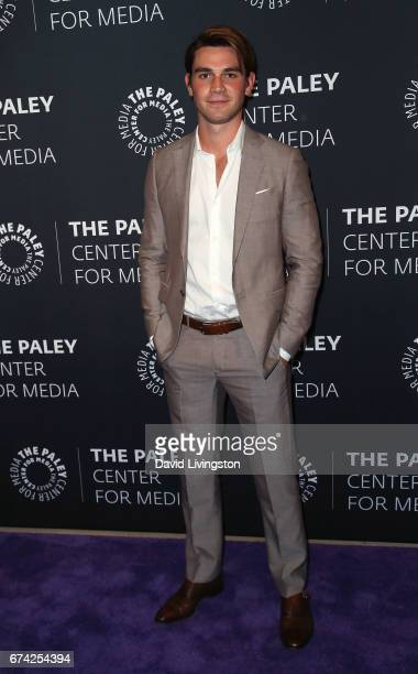Actor KJ Apa attends the 2017 PaleyLive LA Spring Season 'Riverdale' screening and conversation at The Paley Center for Media on April 27 2017 in...
