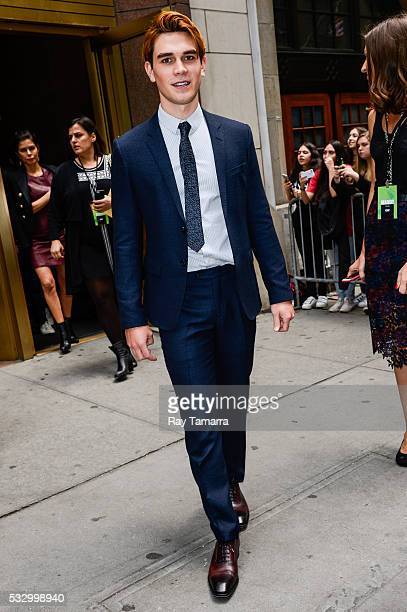 Actor KJ Apa leaves the New York City Center on May 19 2017 in New York City