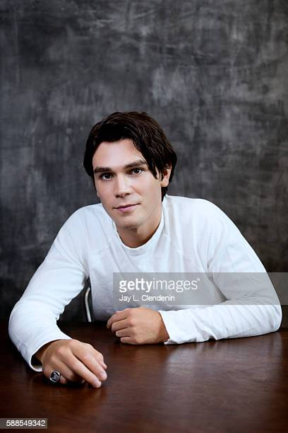 Actor KJ Apa of ' Riverdale' is photographed for Los Angeles Times at San Diego Comic Con on July 22 2016 in San Diego California