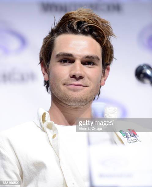Actor KJ Apa on the 'Riverdale' panel on Day 1 of WonderCon held at Anaheim Convention Center on March 31 2017 in Anaheim California