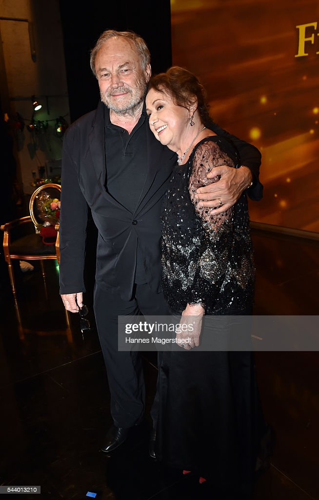 Actor <a gi-track='captionPersonalityLinkClicked' href=/galleries/search?phrase=Klaus+Maria+Brandauer&family=editorial&specificpeople=796752 ng-click='$event.stopPropagation()'>Klaus Maria Brandauer</a> and Elisabeth Wicki-Endriss attend the Bernhard Wicki Award (Friedenspreis des Deutschen Films) during the Munich Film Festival 2016 at Cuvilles Theatre on June 30, 2016 in Munich, Germany.