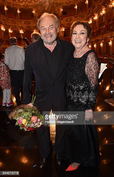 Actor Klaus Maria Brandauer and Elisabeth WickiEndriss attend the Bernhard Wicki Award during the Munich Film Festival 2016 at Cuvilles Theatre on...