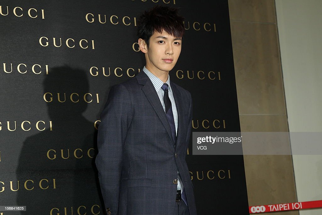 Actor Ko Chen-tung attends Gucci store opening ceremony at Taipei 101 on November 22, 2012 in Taipei, Taiwan.