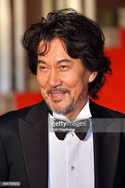 Actor Koji Yakusho attends the opening ceremony of the Tokyo International Film Festival 2015 at Roppongi Hills on October 22 2015 in Tokyo Japan