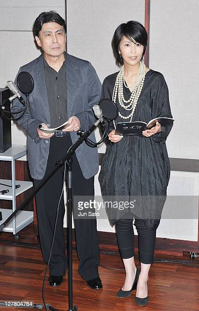 Actor Koshiro Matsumoto and actress Takako Matsu attend the press conference of the BBC's nature documentary film 'One Life' at Mediarte Studio on...