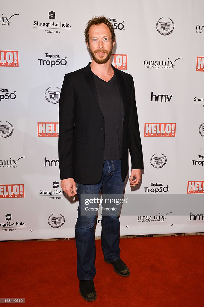 Actor Kris Holden Reid arrives at the Hello! Canada gala celebrating Canada's 50 most beautiful at Shangri-La Hotel on May 9, 2013 in Toronto, Canada.